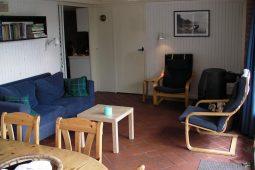 gezellige woonkamer met zithoek en open haard